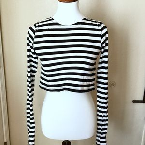 Zara Collection Stripped Crop Top